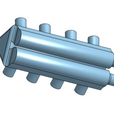 Screenshot_3.jpg Télécharger fichier STL gratuit Twin Turbo Inlet Manifold 1/24 • Plan imprimable en 3D, jaxi666