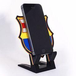 barcelona-stand-base-celular-iphone.jpg Download STL file Barcelona Soccer Base Stand for Cellular • 3D printing model, cardex107
