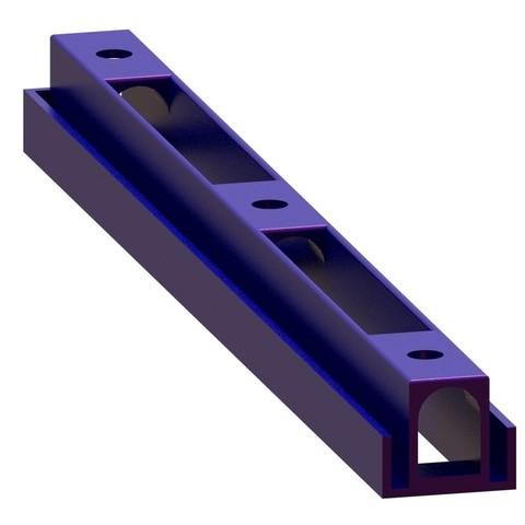RENDU glissiere double CARRE.JPG Download free STL file Hanging storage drawers • 3D printer model, Ni-no