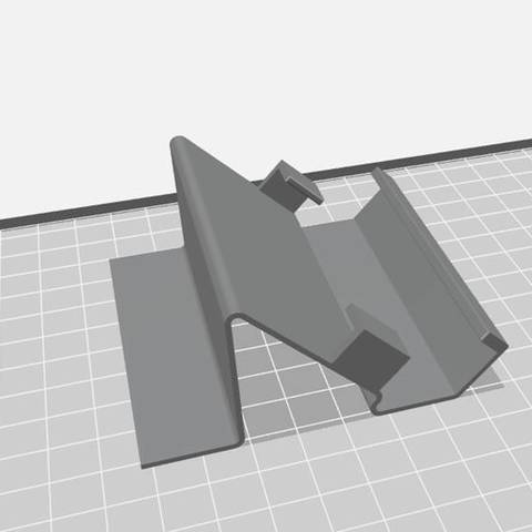 soporte 1.jpg Download STL file Reinforced Cell Bracket • 3D printable template, alcala2708