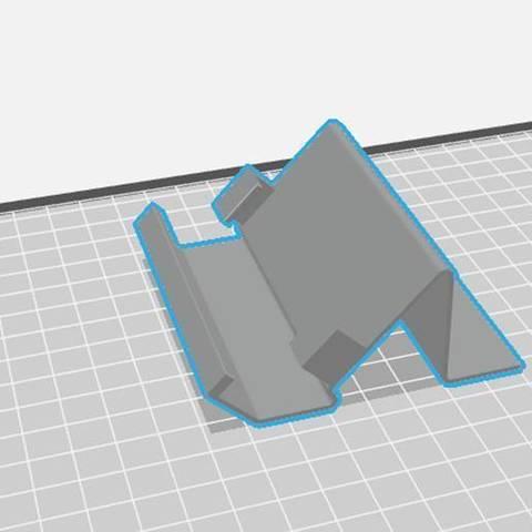 soporte 2.jpg Download STL file Reinforced Cell Bracket • 3D printable template, alcala2708