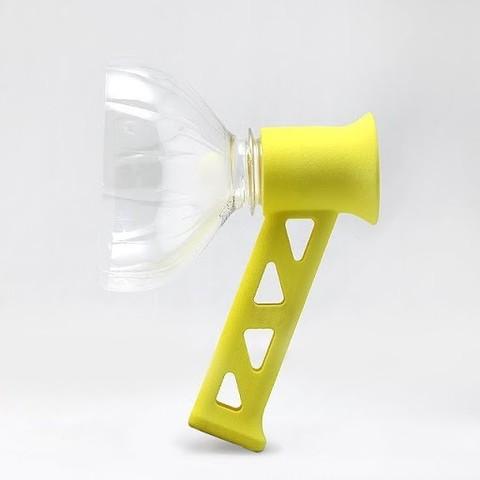 unnamed-17.jpg Download free STL file Megaphone for PET Bottle Caps • 3D printable template, Chiisakobe