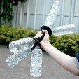 Free Dumbbell for PET Bottle Caps 3D printer file, Chiisakobe