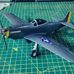 Imprimir en 3D P-51D Mustang - escala 1:72, groover_92