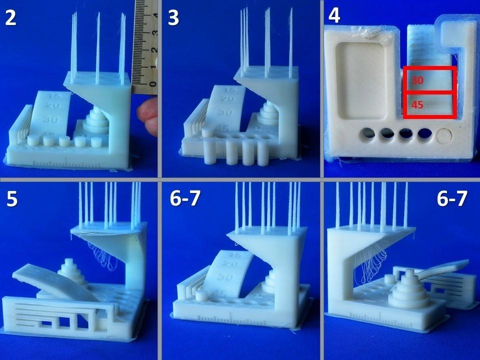 """ksr_fdmtest_v4-Ladnik-02.JPG Télécharger fichier STL gratuit Remixer le test de modèle """"kickstarter-autodesk-3d-master"""" qui élimine les difficultés inutiles en réalisant le test . • Design imprimable en 3D, 3DLadnik"""