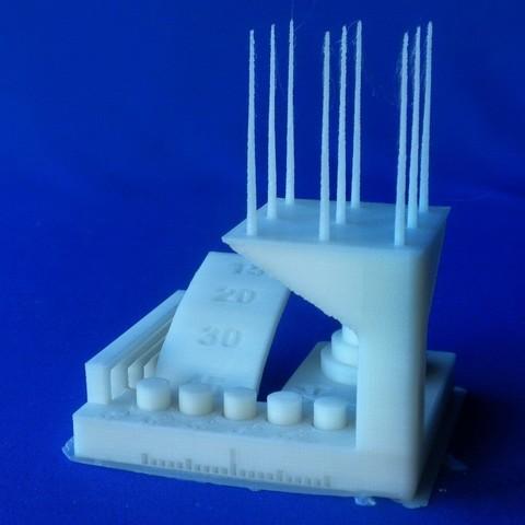 """ksr_fdmtest_v4-Ladnik-01.JPG Télécharger fichier STL gratuit Remixer le test de modèle """"kickstarter-autodesk-3d-master"""" qui élimine les difficultés inutiles en réalisant le test . • Design imprimable en 3D, 3DLadnik"""