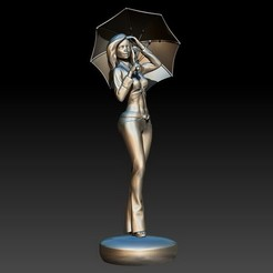 Download 3D printer designs Girl with an umbrella, 3DLadnik