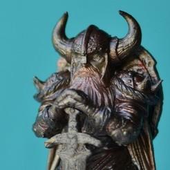 Download free OBJ file Viking Warrior • 3D print template, 3DLadnik