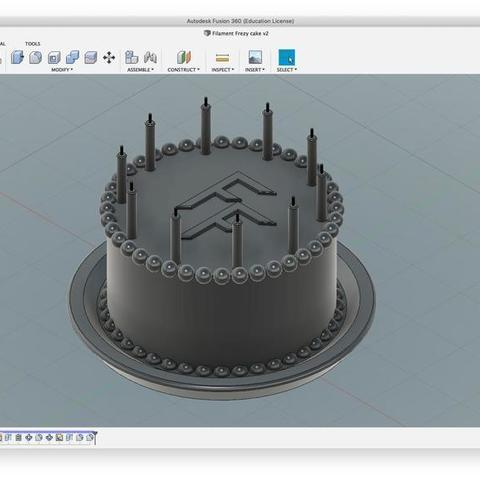 Download free 3D printer model Filament Frenzy's Be-day Cake, Thomllama