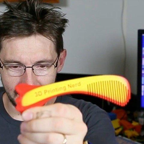 Free 3D printer files 3D Printing Nerd Comb, Thomllama