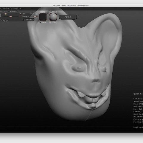 Download free 3D printing models Halloween  - Evil Teddy Bear, Thomllama