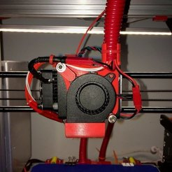 Download free 3D printer files 40x20 fan mount and ducts with wire management, Thomllama