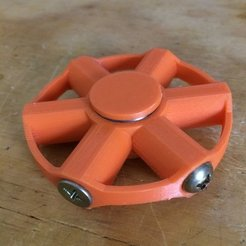 Free 3D printer designs Fidget Spinner - 2 bearing, bolt weighted, Thomllama