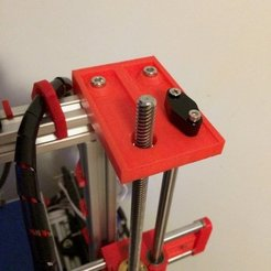 Free 3D printer files Z Axis rod/screw support, Thomllama