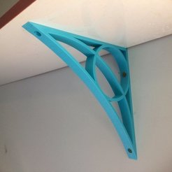 Download free 3D printer model simple shelf bracket, Thomllama