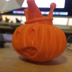 Free 3D printer files Pumpkin King 3D, Thomllama