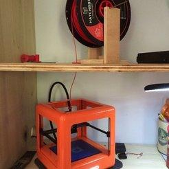 Télécharger STL gratuit Guide de filament à travers l'étagère, Thomllama