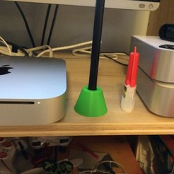 Download free 3D printer files super simple pen holder (Wacom intuos), Thomllama
