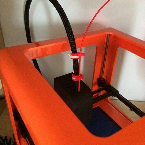 Free STL files Micro 3D Tie Wrap Filament guide, Thomllama