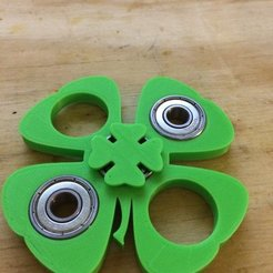 Download free 3D model Four Leaf Clover Finger pads for fidget spinners, Thomllama