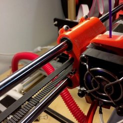 Free 3D printer model Adjustable Stop X Carriage - Max Micron and other Prusa i3, Thomllama