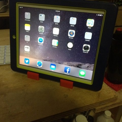Download free 3D printing templates Tablet Stand- Tablets with cases!, Thomllama