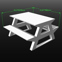 Descargar modelo 3D Modelo a escala 1:50 picnic, 3Diego