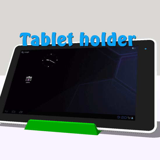 cam.tablet.png Download STL file Phone holder, Tablet support • 3D print design, 3Diego