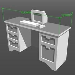 Fichier STL Bureau de maquette à l'échelle 1:50, diegoholguin