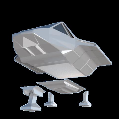 15.png Download STL file Skyfighter - T-47 • 3D printer model, 3Diego