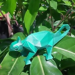 thumbnail8.jpg Download STL file LOW POLY CHAMELEON • 3D printing model, 3Diego