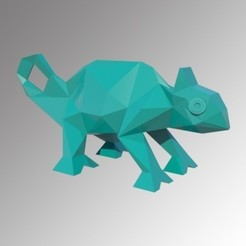 3d printer model CHAMELEON LOW POLY, 3Diego