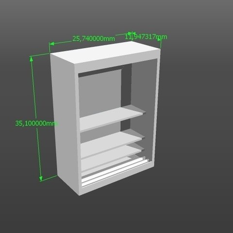 3D printer models 1:50 scale model wardrobe, 3Diego