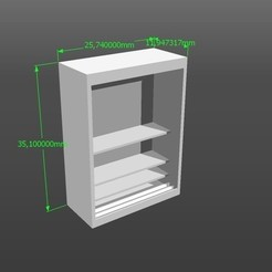Download 3D printer designs 1:50 scale model wardrobe, 3Diego