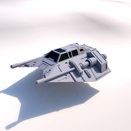 2.png Download STL file Skyfighter - T-47 • 3D printer model, 3Diego
