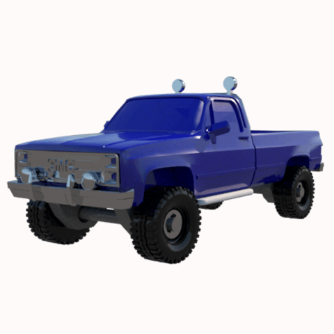 4.png Download STL file gmc sierra truck • Template to 3D print, 3Diego