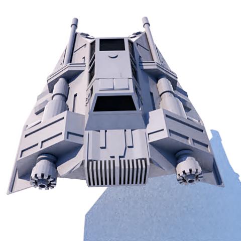 6.png Download STL file Skyfighter - T-47 • 3D printer model, 3Diego