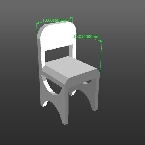 Download 3D printing templates 1:50 scale model chair, 3Diego