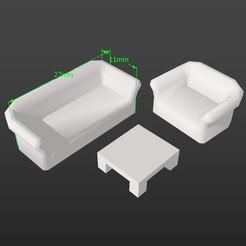 Impresiones 3D Modelo a escala 1:50 SALA, 3Diego