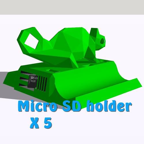 cam.microsd.png Download STL file Phone holder, Tablet support • 3D print design, 3Diego