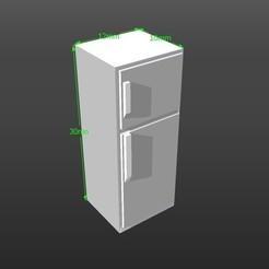 3D print model 1:50 scale model refrigerator, 3Diego