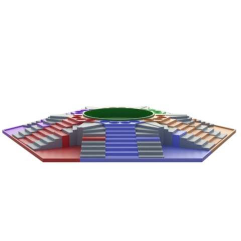 d.png Download STL file Parchis of 6 seats, Ludo king • 3D printable object, 3Diego