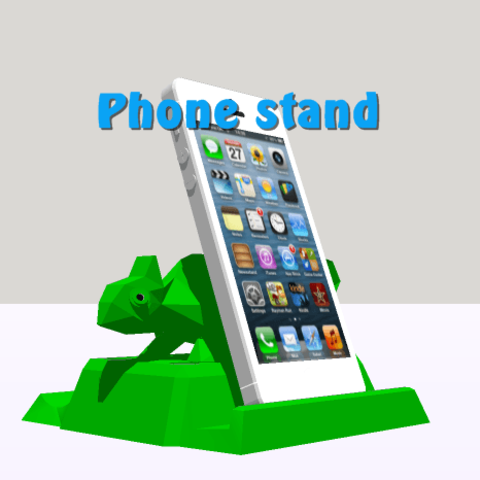 Modelos 3D para imprimir soporte telefono phone holder low poly, 3Diego