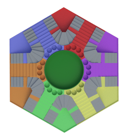 f.png Download STL file Parchis of 6 seats, Ludo king • 3D printable object, 3Diego