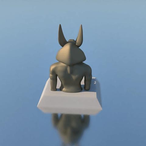 5.png Download STL file PENCIL HOLDER, ANUBIS • 3D printing design, 3Diego