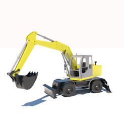 Modelos 3D para imprimir excavadora, 3Diego