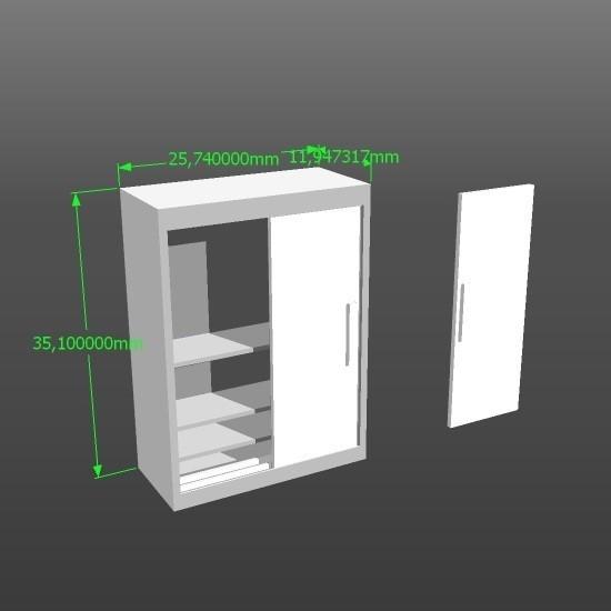 CLOSET PUERTAS2.jpg Download STL file 1:50 scale model wardrobe • 3D printing design, 3Diego
