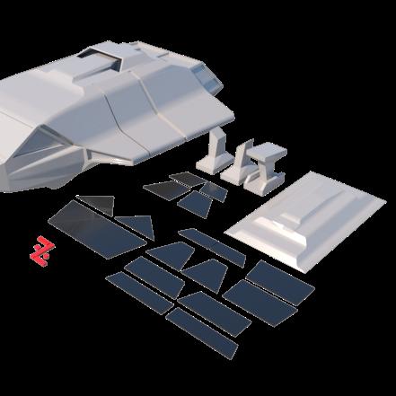 21.png Download STL file Skyfighter - T-47 • 3D printer model, 3Diego