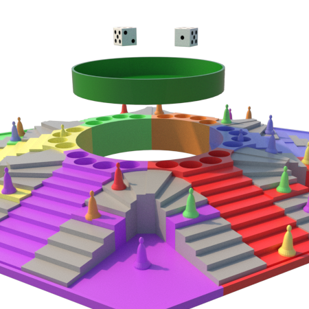 k.png Download STL file Parchis of 6 seats, Ludo king • 3D printable object, 3Diego
