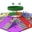 Download 3D printing templates Parchis of 6 seats, Ludo king, 3Diego
